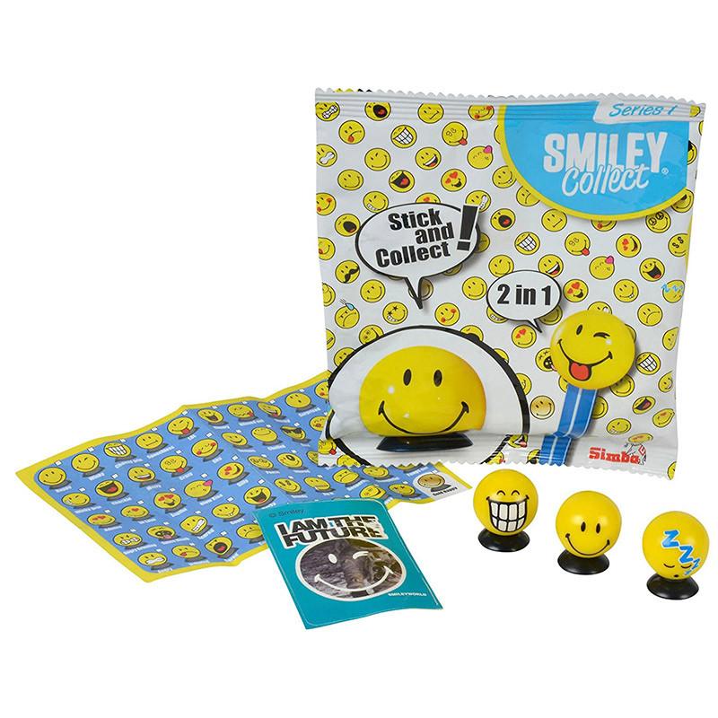 Smiley carteiras com 3 colecionáveis