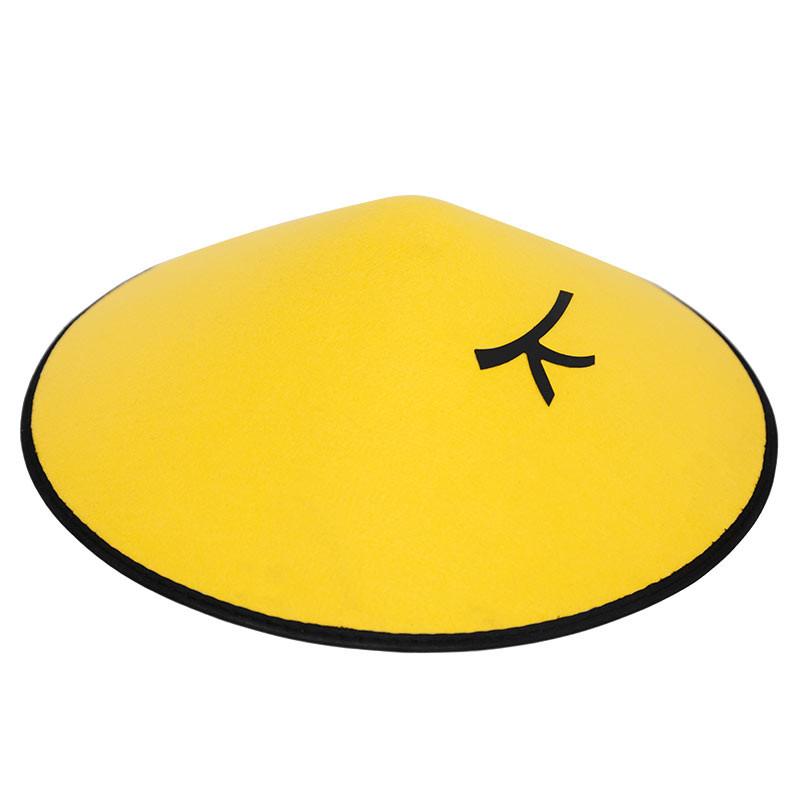 Chapeu gorro de chinês amarelo