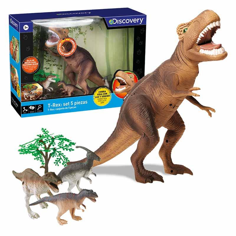 Dinossauro T-Rex Discovery 5 peças