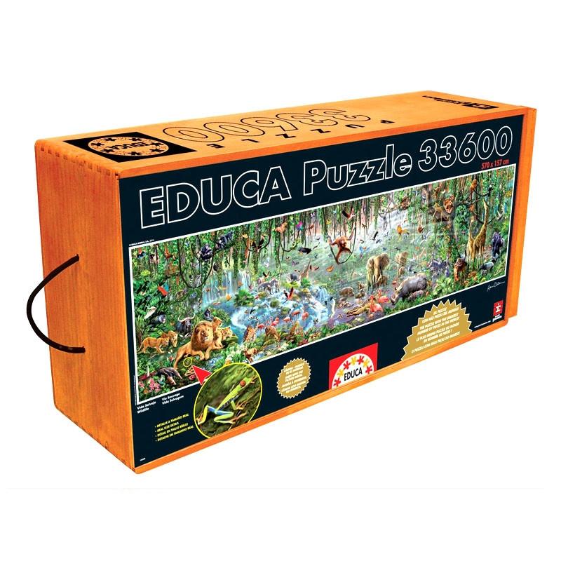 Educa puzzle vida selvagem
