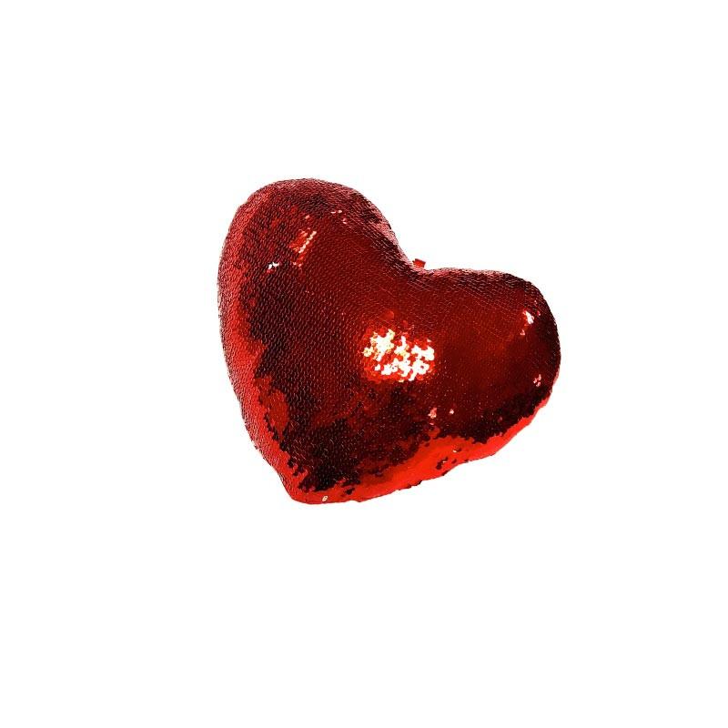Almofada coração de lentejoulas reversíveis