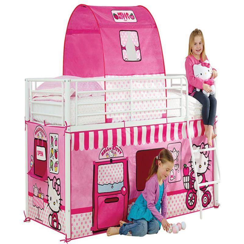 Hello Kitty casa de tecido para camas