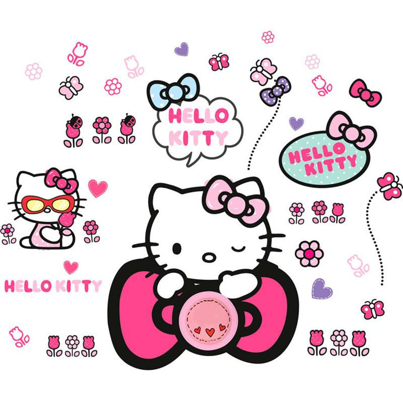 Hello Kitty campainha com autocolantes de parede
