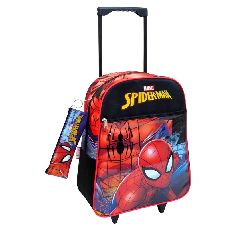 Mochila trolley Spiderman com estojo