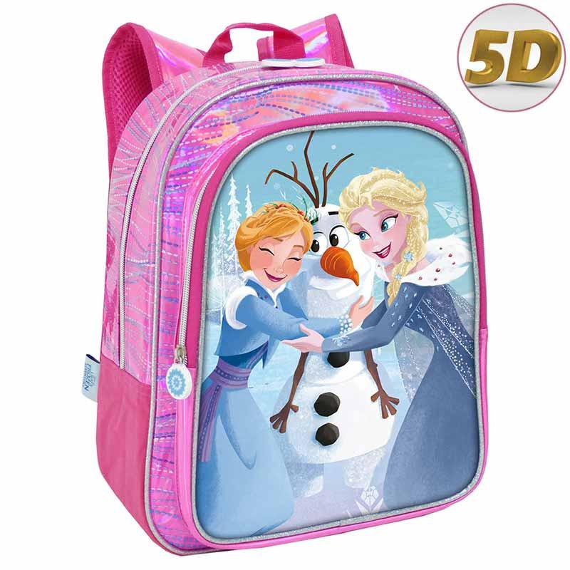 Mochila Frozen com bolso 35cm