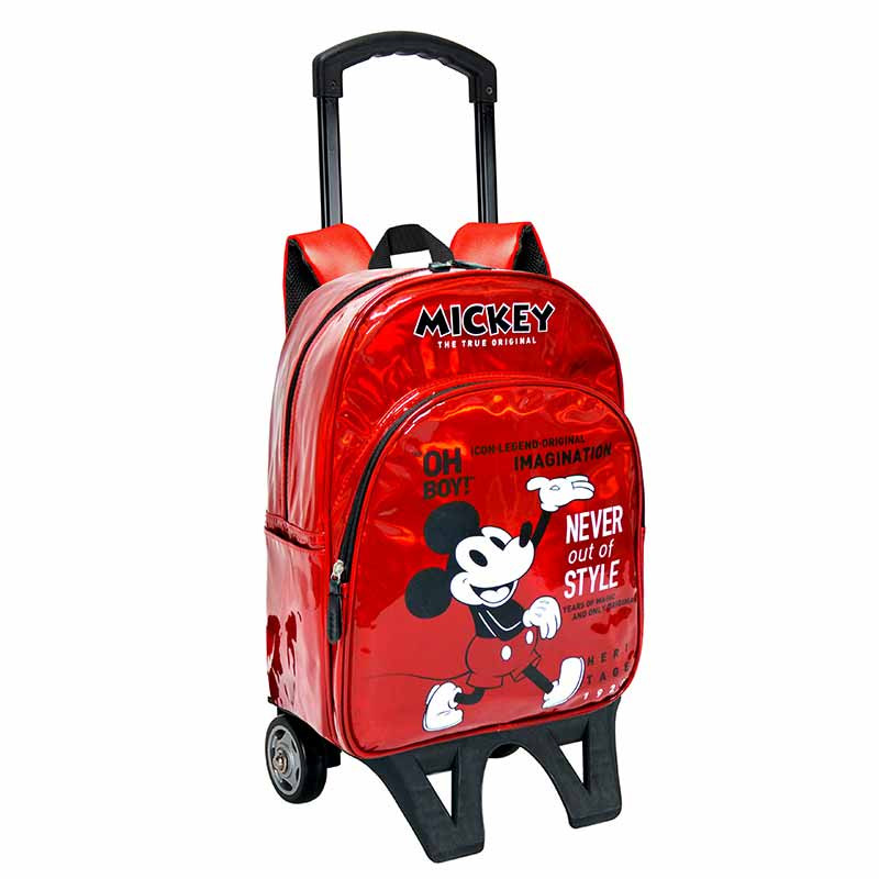 Mochila com trolley adaptável Mickey 42cm