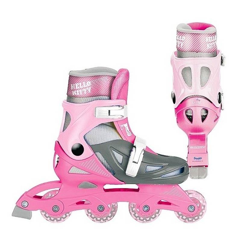 Hello Kitty inline patins ajustáveis