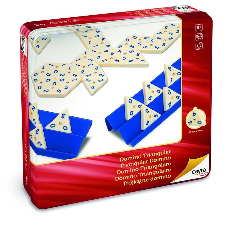 Dominó Triangular em caixa de metal