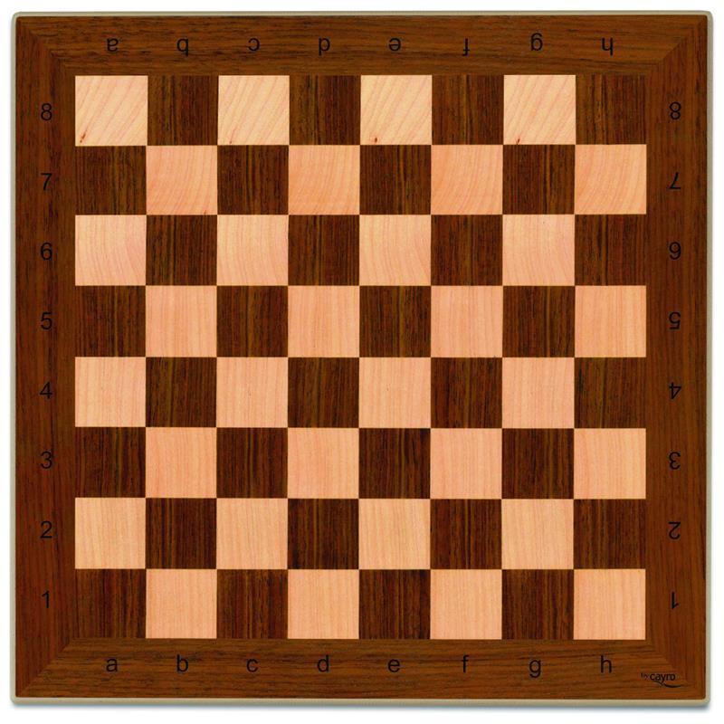 Tabuleiro de xadrez de madeira 40x40