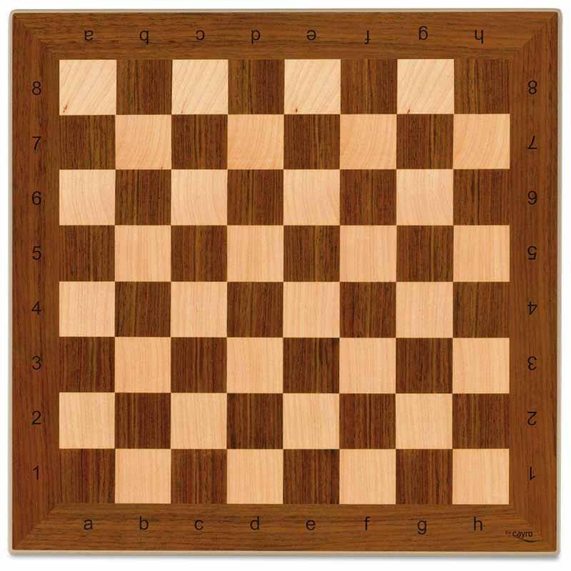 Tabuleiro xadrez madeira