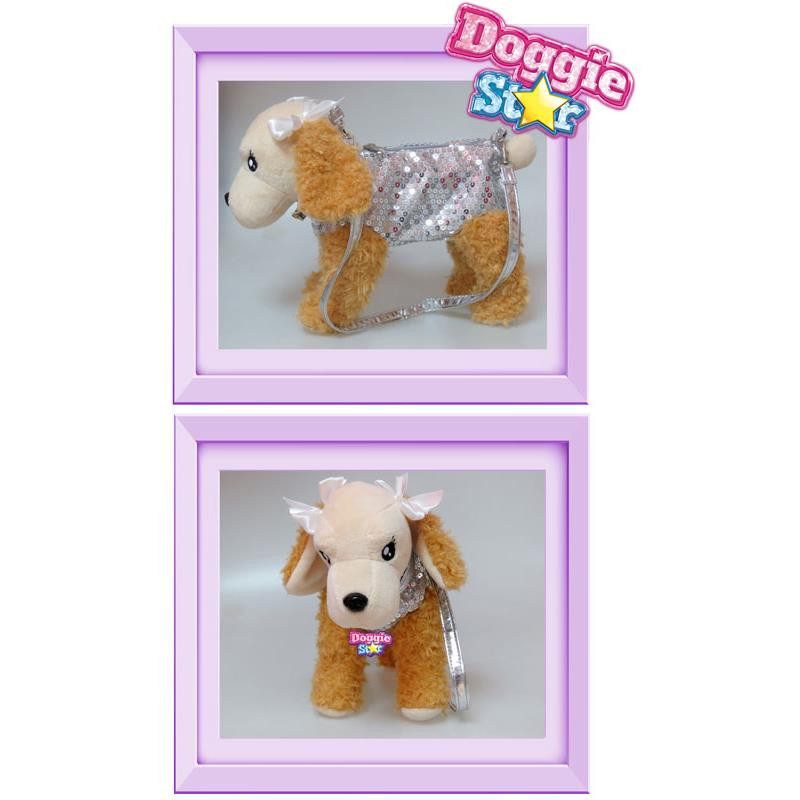 Doggie Star peluche Cocker prata