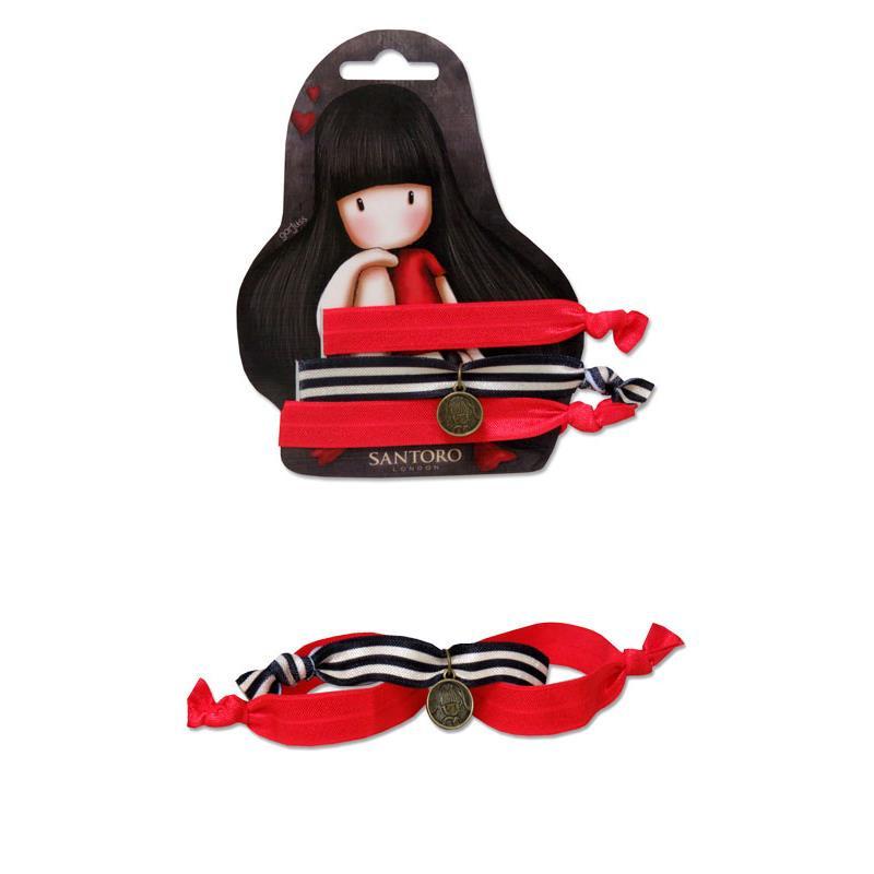 Gorjuss elástico de cabelo vermelho com pendente