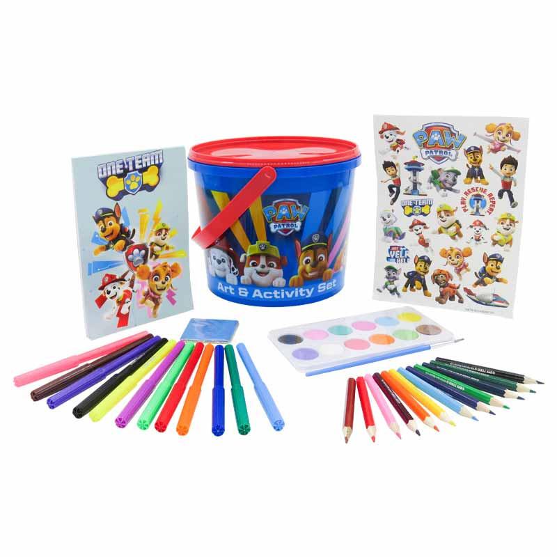 Paw Patrol conjunto de desenho 46 peças em balde