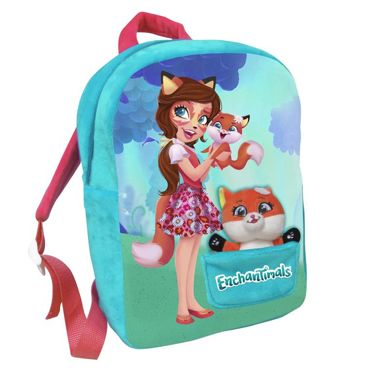 Mochila com peluche Enchantimals Felicity Fox