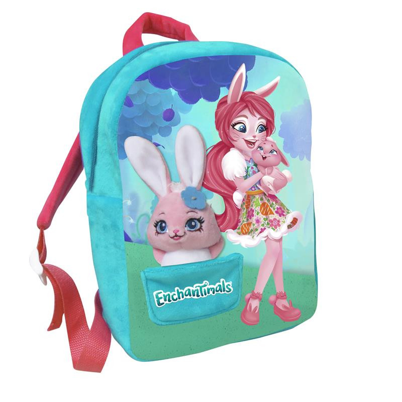 Mochila com peluche Enchantimals Bree Bunny