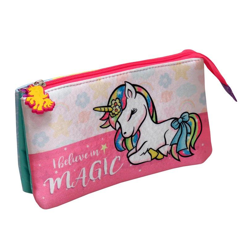 Estojo Triplo Unicorn by Bagoose
