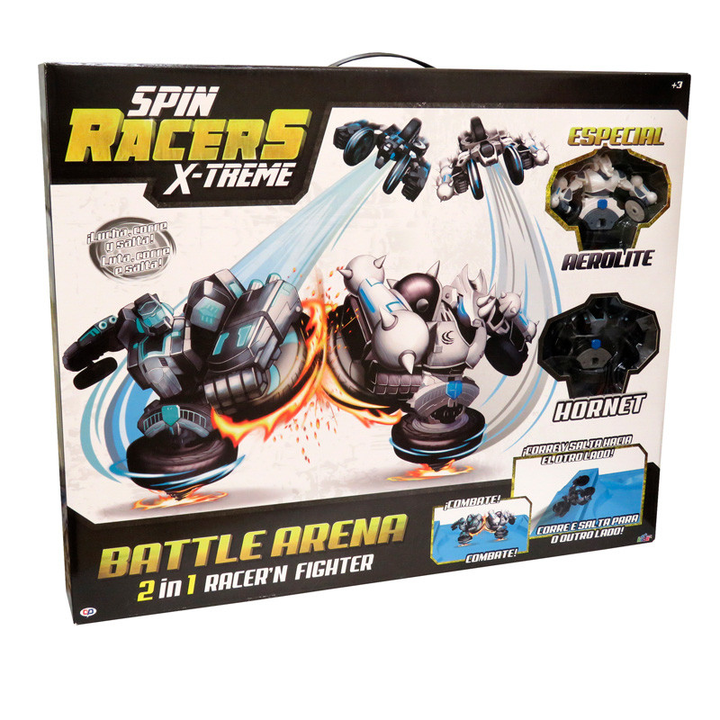 Conjunto arena com 2 spin racers