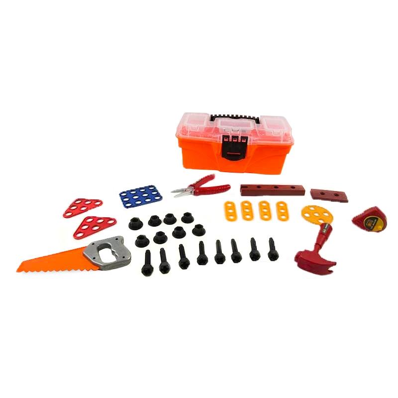 Mala com 32 ferramentas para brincar