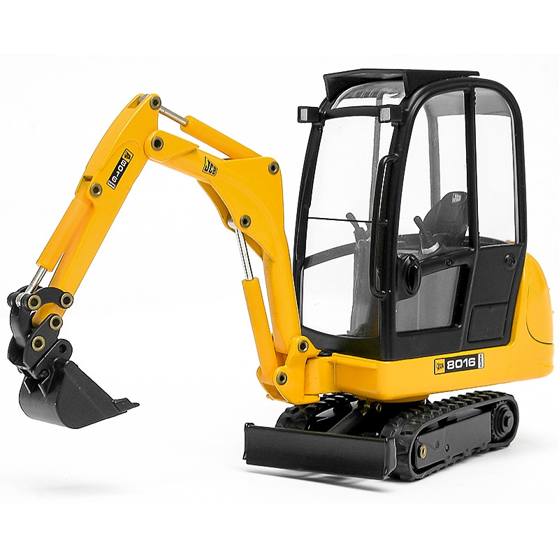 Mini escavadora JCB 8016 c/pá 1:25