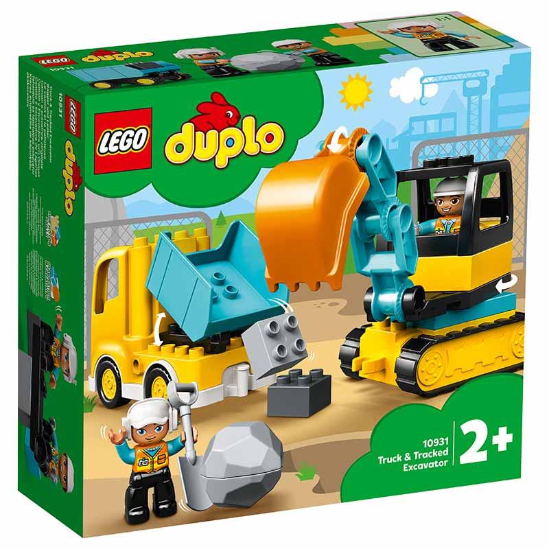 Lego Duplo Camião e Escavadora de Lagartas