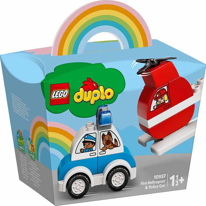 Lego Duplo Helicóptero Bombeiros Carro Polícia