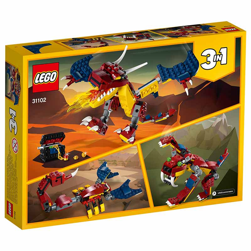 Lego Creator dragão flamejante
