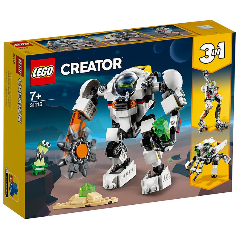 Lego Creator Mech de Exploração Mineira Espacial