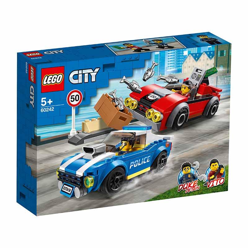 Lego City policia detenção na autoestrada