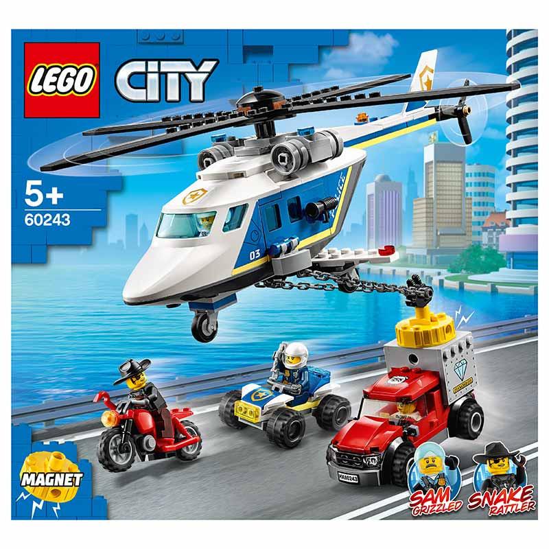 Lego City perseguição em helicóptero de Policia