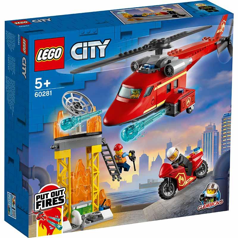 Lego City Helicóptero de Resgate dos Bombeiros