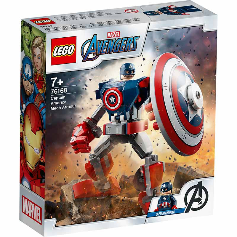 Lego Super Heroes Armadura Mech Captain America