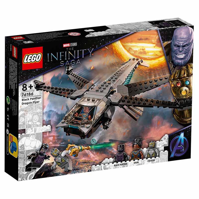 Lego Super heróis Avião Dragão de Black Panther