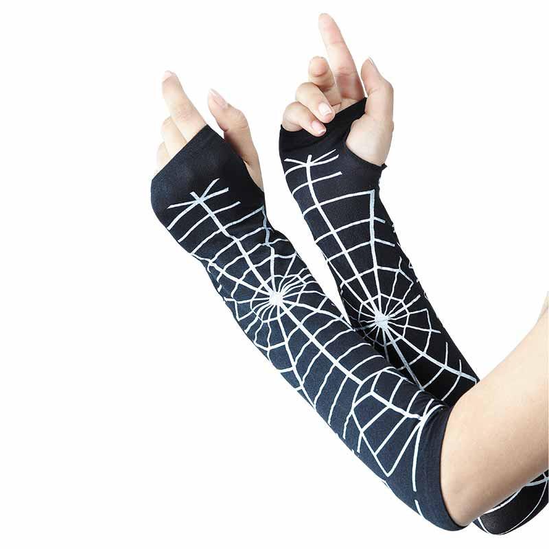 Luvas Compridas Teia de aranha