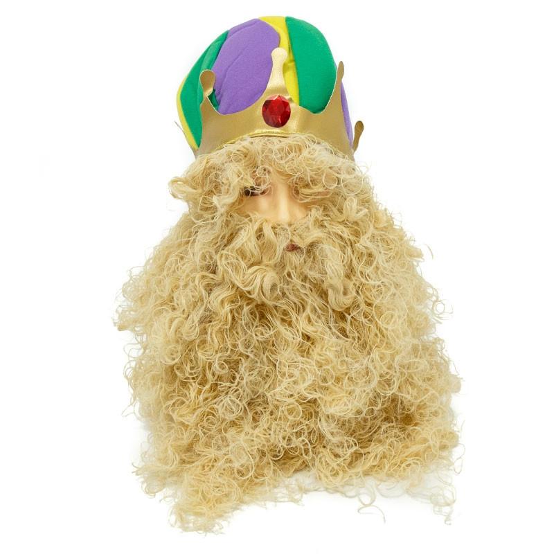 Peruca Rei com Barba Carnaval