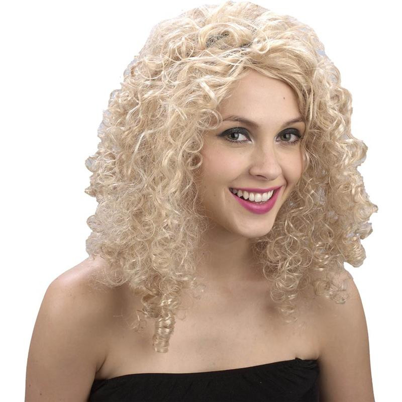 Peruca de cabelo loiro adulto