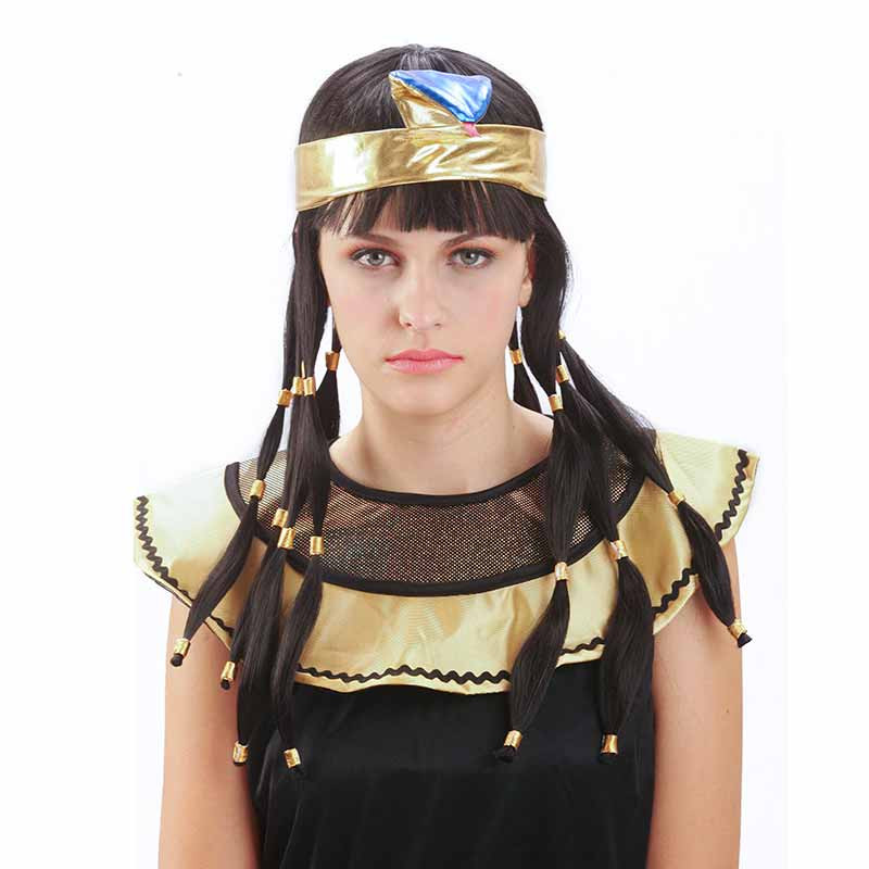 Peruca Cleopatra Adulto Carnaval