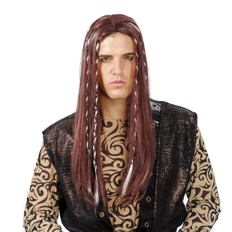 Carnaval peruca longa Pirata adulto