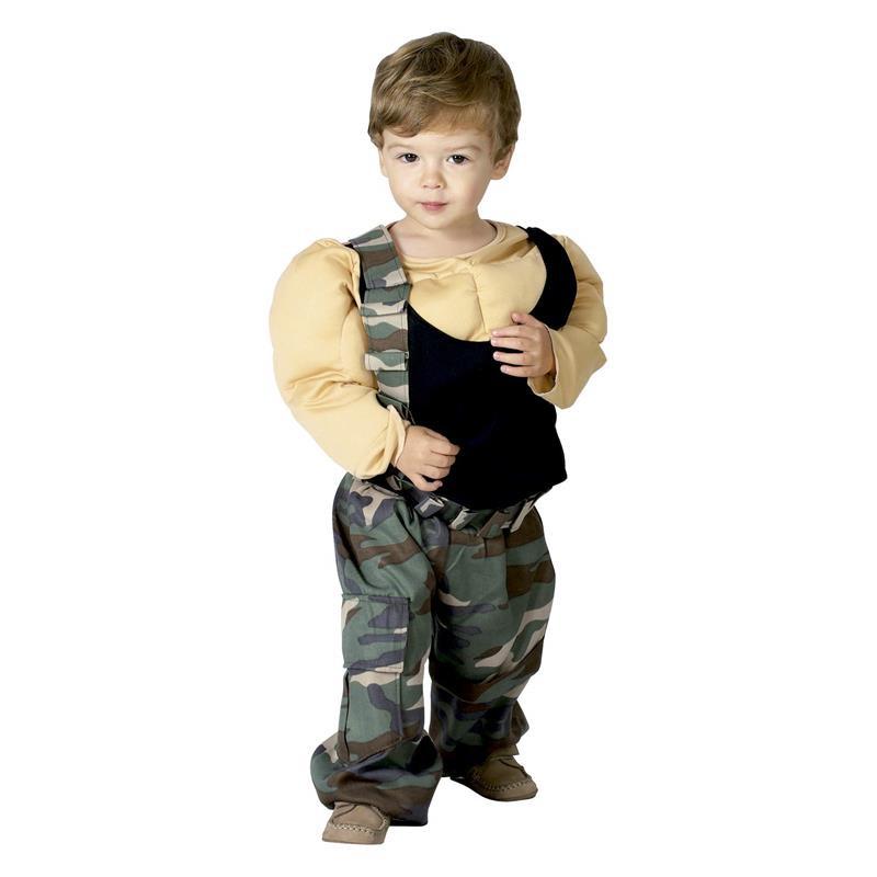 Disfarce de lutador musculado infantil