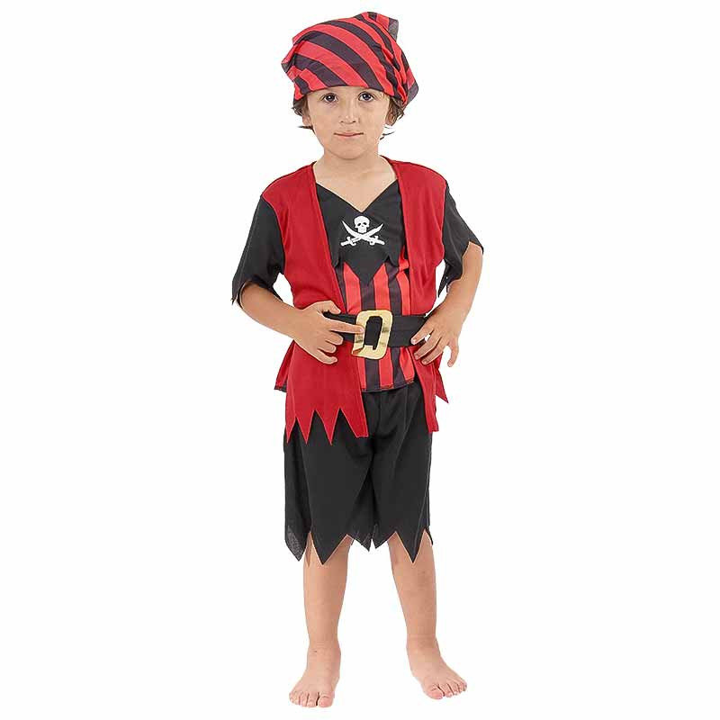 Disfarce Piratinha Bebe Luxe Menino