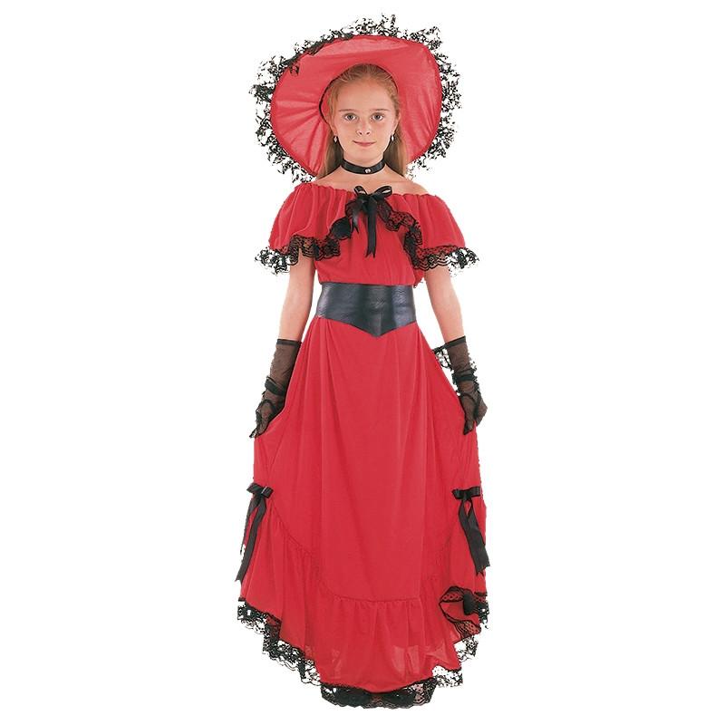 Carnaval Dama Escarlata infantil