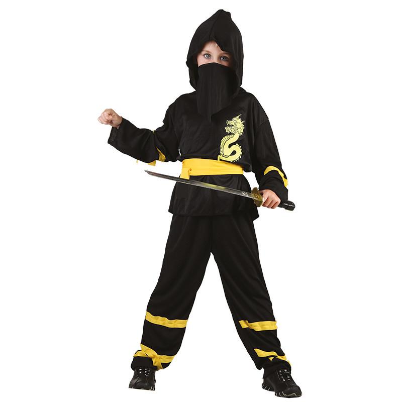 Disfarce Ninja amarelo infantil