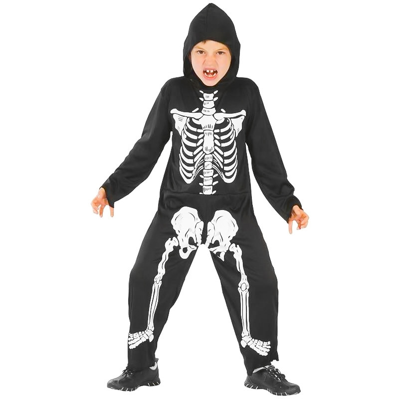 Disfarce esqueleto infantil