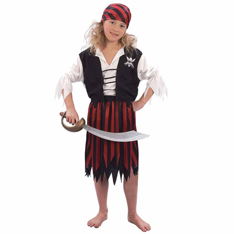 Disfarce Pirata Menina Inf
