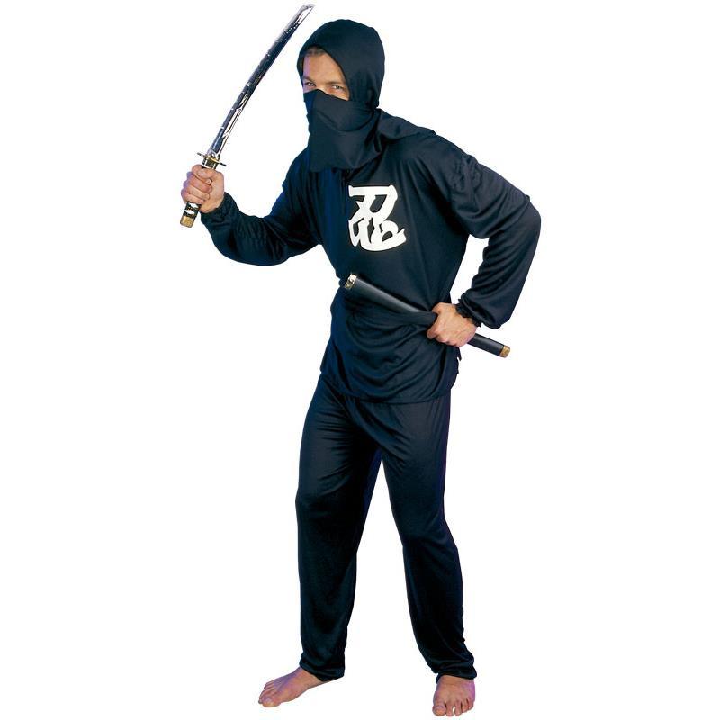 Disfarce Ninja Negro Adulto T/U