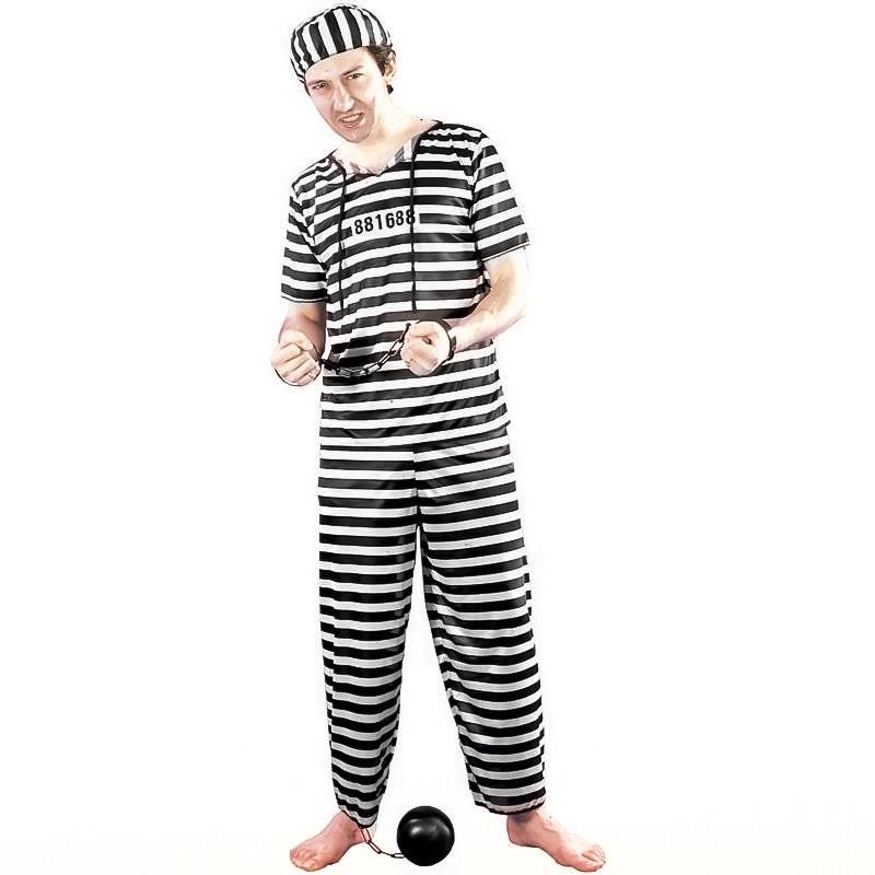 Disfarce prisioneiro adulto T/U
