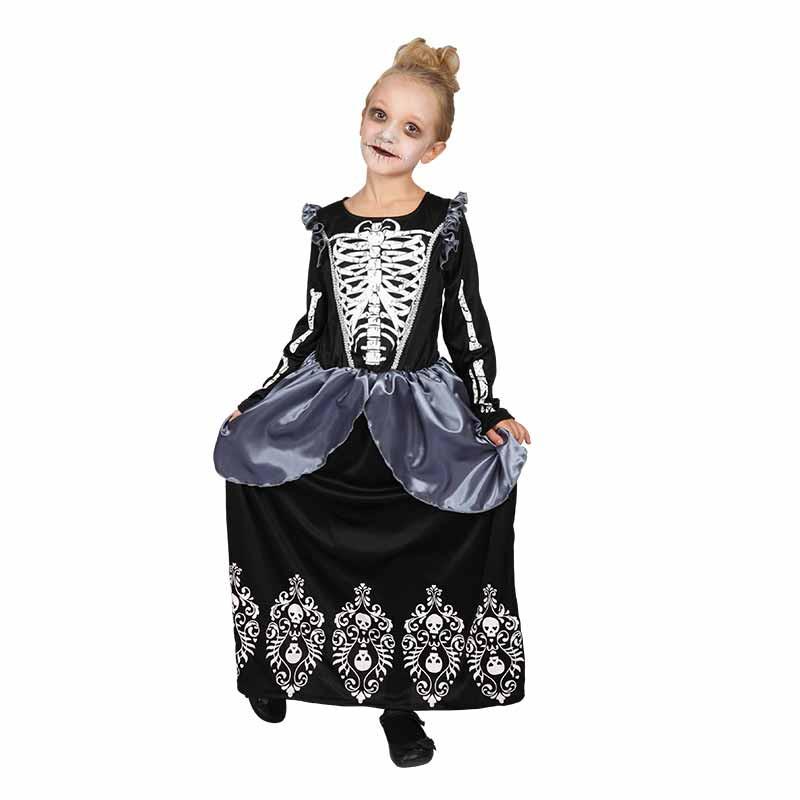 Disfarce Rainha Esqueleto infantil