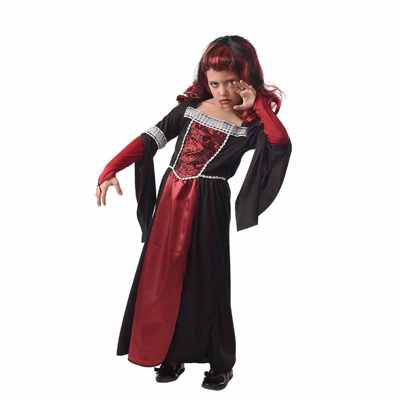 Disfarce Vampira Medieval infantil