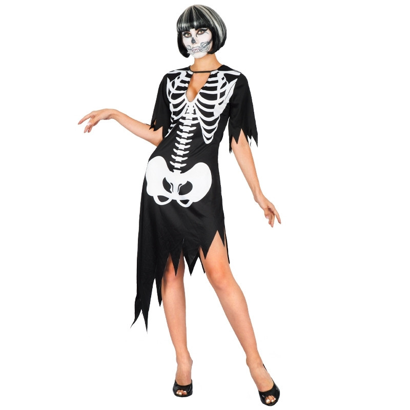 Disfarce Mulher Esqueleto Adulto T/U