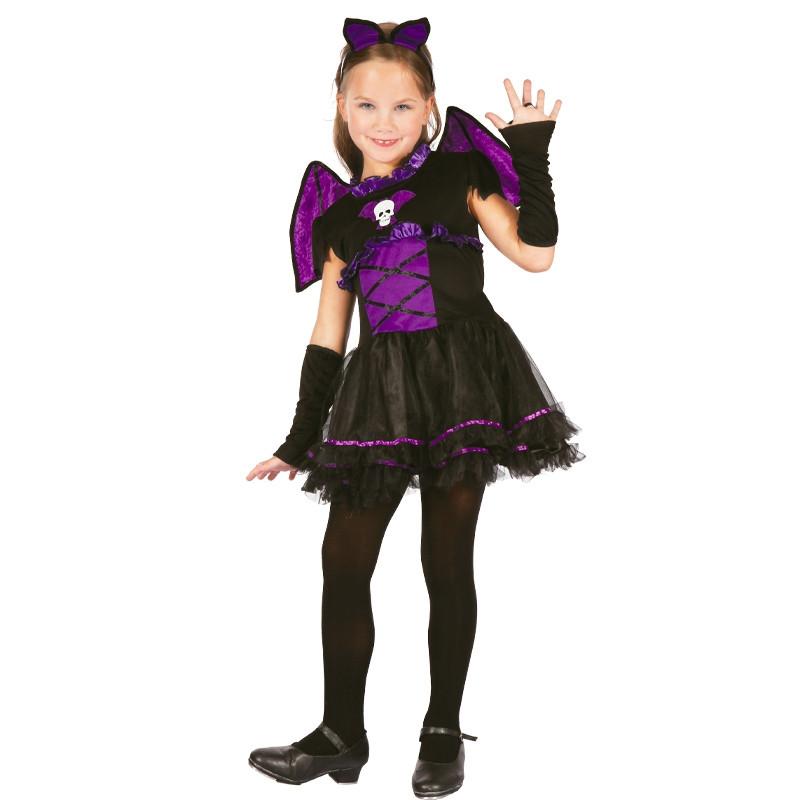 Disfarce Menina Morcego infantil