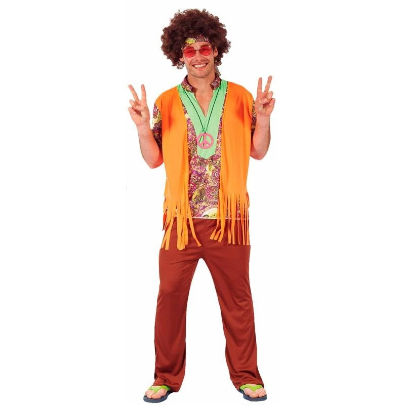 Disfarce Hippie Homem Adulto